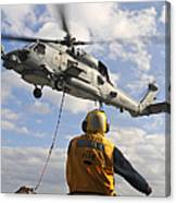 An Sh-60b Sea Hawk Helicopter Releases Canvas Print