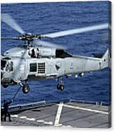 An Sh-60b Seahawk Helicopter Performs Canvas Print