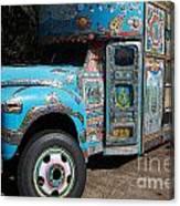 Anandapur Blue Bus Animal Kingdom Walt Disney World Prints Canvas Print