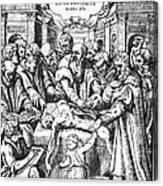Anatomy Dissection, 16th Century Canvas Print