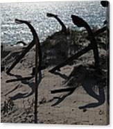 Anchor Beach 15 Canvas Print