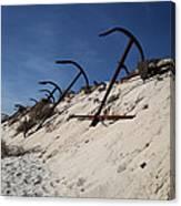 Anchor Beach Canvas Print