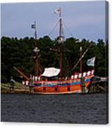 Anchored Ship Canvas Print