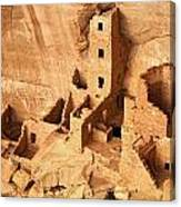Ancient Anasazi Indian Cliff Dwellings Canvas Print