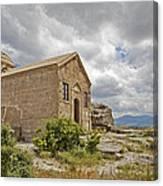 Ancient Church On Hills Of Anatolia Canvas Print