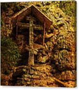Ancient Cross. Holy Island  Canvas Print