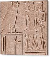 Ancient Stone Carvings, Karnak, Egypt Canvas Print