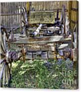 Ancient Wagon Frame Canvas Print