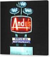 Andy's Drive-in Canvas Print