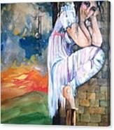 Angel And The Mushroom Cloud Canvas Print