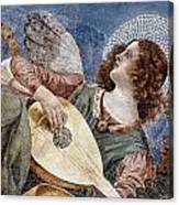 Angel With A Lute Canvas Print