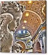 Angels At The Vatican Canvas Print