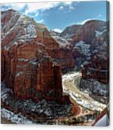 Angels Landing View From Top Canvas Print