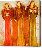 Angels Rejoicing Together Canvas Print