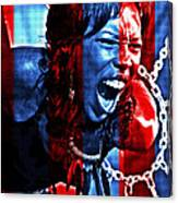 Anger In Red And Blue Canvas Print