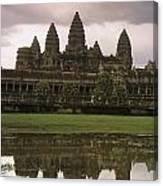 Angkor Wat Temple Reflected Canvas Print