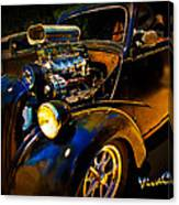 Anglia Dragster And A Duce Staged For A Grudge Run  Canvas Print