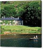Angling, Delphi Lodge, Co Mayo, Ireland Canvas Print