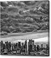 Angry Skies Over Nyc Canvas Print
