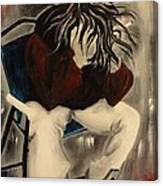 Angst With A Cigarette Canvas Print