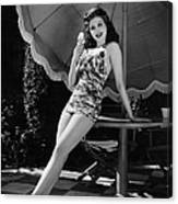 Ann Miller Eating Ice Cream, Ca. 1941 Canvas Print