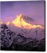 Annapurna South At Sunrise, Nepal Canvas Print