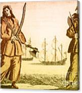 Anne Bonny And Mary Read, 18th Century Canvas Print