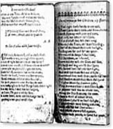 Anne Bradstreet Poems Canvas Print