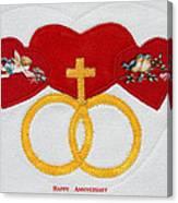 Anniversary Hearts Canvas Print