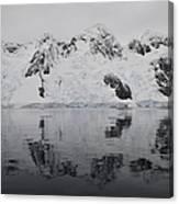Antarctic Mountains Reflected Canvas Print