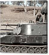 Anti-aircraft Guns Mounted On An M109 Canvas Print