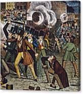 Anti-catholic Mob, 1844 Canvas Print
