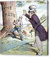Anti-trust Cartoon, 1904 Canvas Print
