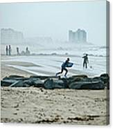 Anticipation For Surf Canvas Print