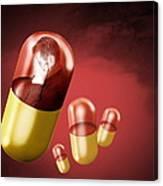 Antidepressant Medication Canvas Print