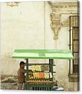 Antigua Fruit Vendor Canvas Print