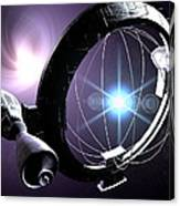 Antimatter Drive Spaceship Canvas Print