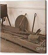 Antiquated Plantation Tools - 1 Canvas Print
