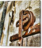 Antique - Door Rail - Rusty Canvas Print