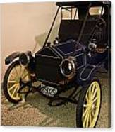 Antique Automobile With Yellow Spoke Wheels Canvas Print