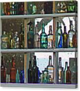 Antique Bottle Collection  Canvas Print