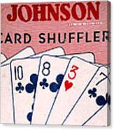 Antique Card Shuffler Canvas Print