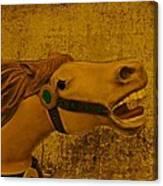 Antique Carousel Appaloosa Horse Canvas Print