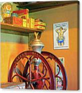 Antique Coffee Mill Canvas Print