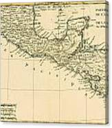 Antique Map Of Southern Mexico