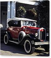 Antique Red Convertible Canvas Print