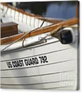 Antique Us Coast Guard Boat Canvas Print