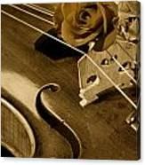Antique Violin Viola Canvas Print