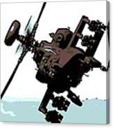 Apache Preparing To Attack Canvas Print
