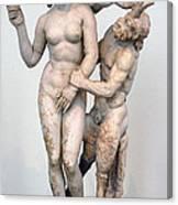 Aphrodite Pan And Eros Canvas Print